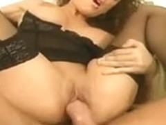 Horny French cock craving bitch fucked in stockings