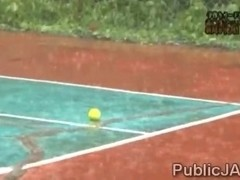 Teen Japanesse tennis player teased in front of teammates