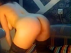 Russian angel out of her glasses fingering for us