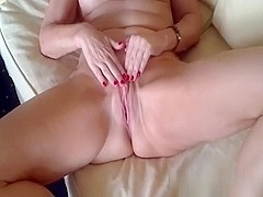 Fleshly pecker massage with sdestroyful feet and darksome moist pants