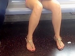 Candid feet and toe action