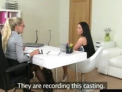 Casting agent pleasured orally by dyke