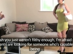 Euro amateur assfucked in office casting