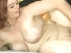 Cute Bulky Redhead Acquires Her Puss Creamed On