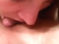Offering a blowjob to my sexy man