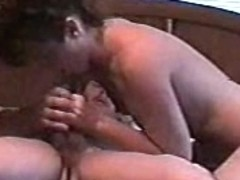 Naughty girl passionately played with amateur man's cock