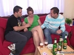 3Some party with old honey