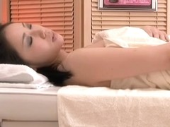 Asian doggy style and twat drilling in voyeur massage video