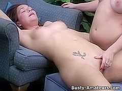 Lacie and Kat on lesbian action