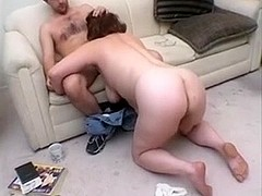 Milf enjoys a young man cock