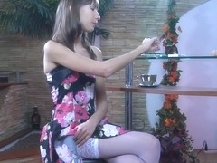 LacyNylons Video: Florence A