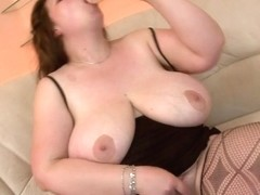Giant breasted aged mother getting juicy