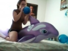 Whale Ride With Balloons