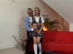 Old man and cute milf