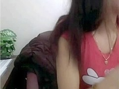 asian sweetheart masturbates on web camera at work while boss is away !