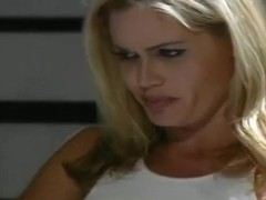 Angie in Boob Revealing Tank top and Skin Tight Shorts Sucks Dick