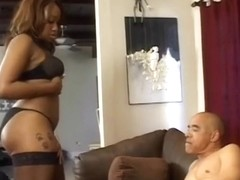 Angel Eyes Gives Old Dude Great Hand Job