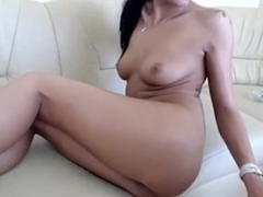 Toy penetrating her taut a-gap real deep