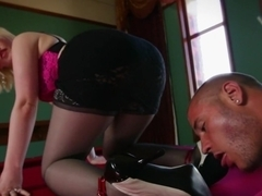Amazing fetish, ebony porn video with crazy pornstar Danny Mountain from Footworship