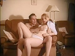 Old boyfrend fucks hot golden-haired honey