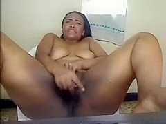 Cute Chunky Latin Babe Masturbates and Squirts