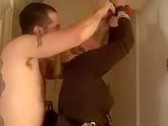 Hubby filming her drilled hard by a ally