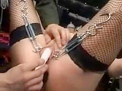 Young pierced slave is a toy