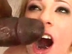 Cute golden-haired that can't live without dark cum