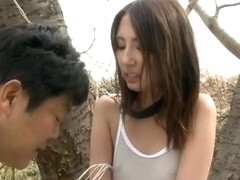 Hot Rumi Kamida in group outdoor sex action