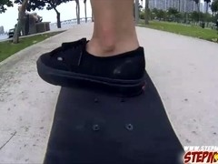 Skateboarders stiff man meat makes stepmom horny and have sex