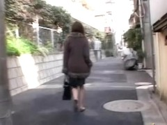 Confused Japanese lady was skirt sharked and ass grabbed
