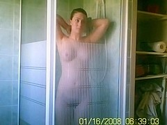 My lovely gf naked in the bathroom