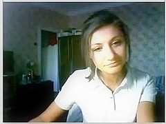 Delightful russian beauty on web camera