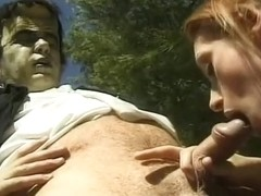 Halloween comes early to Mariah as She Sucks a Scary Cock