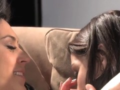 Ann Marie Rios and Raylene lick hairy pussies