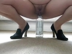 Riding a bottle with fun