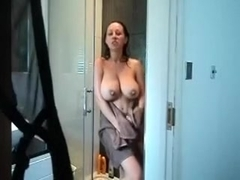 Filming myself for my husband ''cuz this boy-friend can't live out of my big boobs