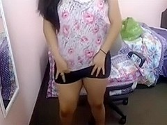 Real Cute Indian Chick on Web Camera