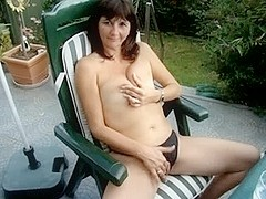 My wife masturbating outdoors
