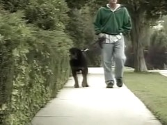 Walking the Dog Gets this Guy Fucked by a Busty Blonde