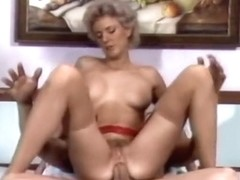 Retro pussy and mouth rod stretched