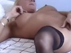 British bitch Laura H. plays with herself in hold-ups
