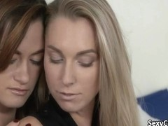 Two hot babes in lesbian action