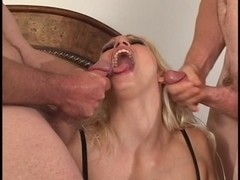 Outdoor naughty blond can't acquire sufficiently cum