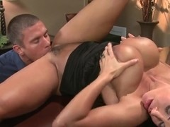 Busty babe Lisa Ann gets licked by Mick Blue in public