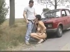 Roadside mother I'd like to fuck Fucked and Sperm Glazed