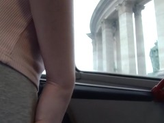 Bonnie - Public Sex Town Bus Footage