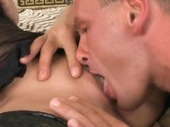 Hot blonde Karlie Simon pleasures her mature man