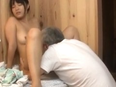 Arousing Japanese AV Model gets fucked after a bath