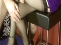 Horny chap has a fetish for stockings